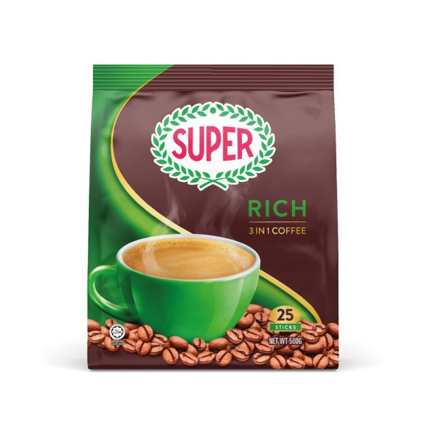 SUPER Rich 3in1 Instant Coffee - 25 sachets
