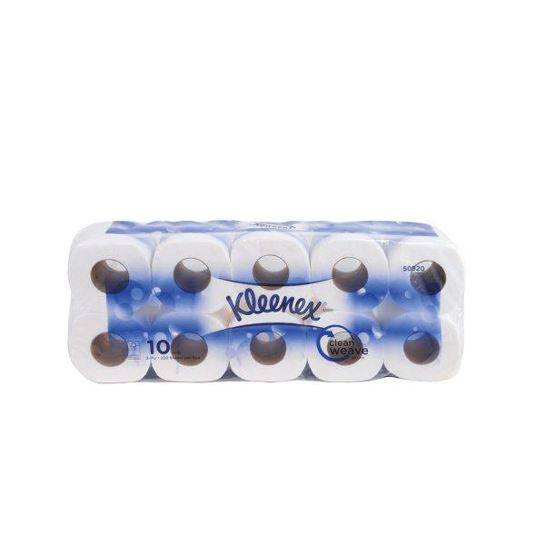 Kleenex® Standard Roll Toilet Tissue 50920 - White, (10 rolls x 220 sheets) & 2 ply (2200 sheets)