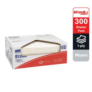WypAll® X70 Wipers, flat sheet, 94171 - White, (1 pack x 300 sheets) & 1 ply